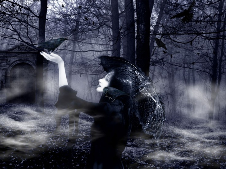 gothic-lady-wallpaper-forest-black-female-gothic-full-hd