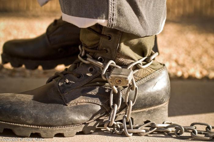 Juvenile chain gang in the Maricopa County Jail in Phoenix, AZ